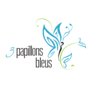 3 Papillons Bleus